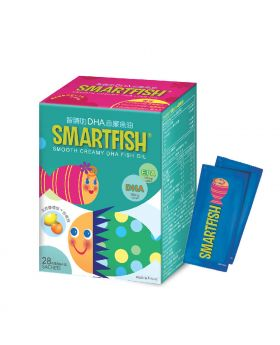 SmartFish® 智睛叻DHA忌廉魚油 (28包裝)「買2送1」